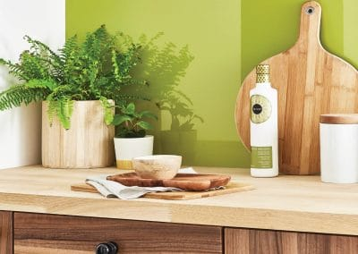 Bright Olive Kitchen Splashback