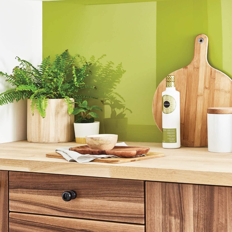 Bright Olive Kitchen Splashback