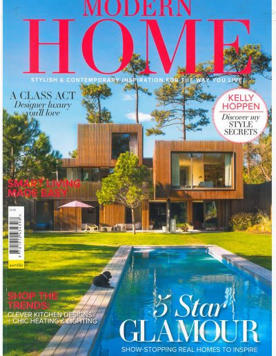 Alusplash splashbacks featured on Modern home magazine. Magazine cover showing a clever kitchen designs with stylish and contemporary inspiration