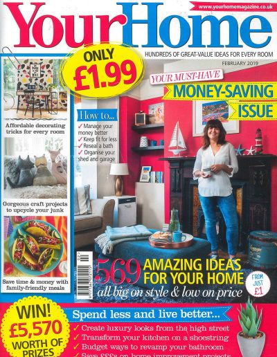 Alusplash splashbacks featured on Your home magazine. Magazine cover showing an amazing ideas for how to transform kitchen and bathroom in luxury look