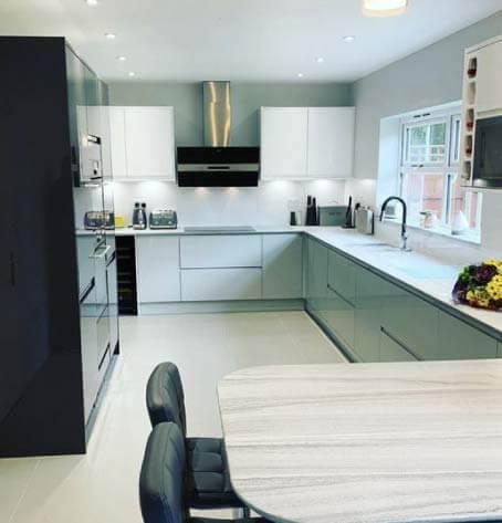 The Customer Journey for Kitchen Renovation, white AluSplash splashback