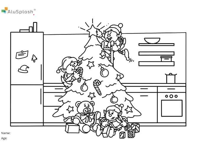 Little Splashers, Alusplash kitchen backsplash Christmas competition