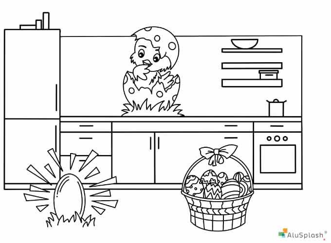 Little Splashers, Alusplash kitchen backsplash Easter competition