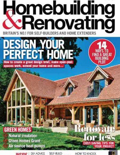 Alusplash kitchen backsplash featured on Homebuilding&Renovating magazine