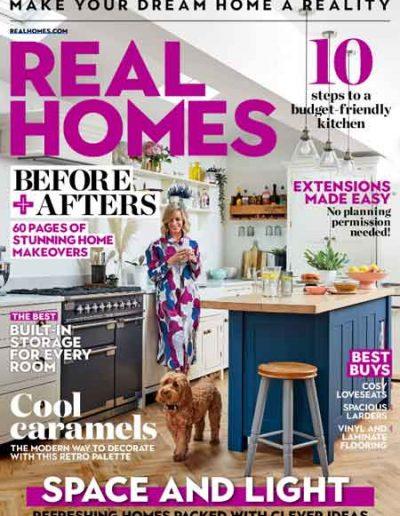 Alusplash kitchen backsplash featured on Real Homes magazine