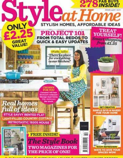 Alusplash kitchen backsplash featured on Style at Home magazine