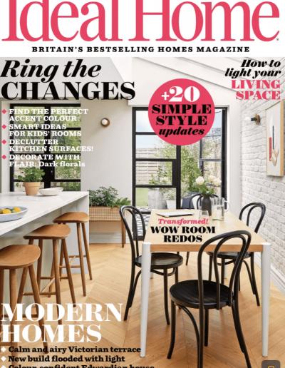 Alusplash kitchen backsplash featured on Ideal Home magazine