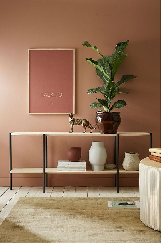 How to use Autumnal colours_feature_wall